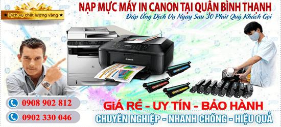 Dịch vụ nạp mực máy in Canon quận Bình Thạnh